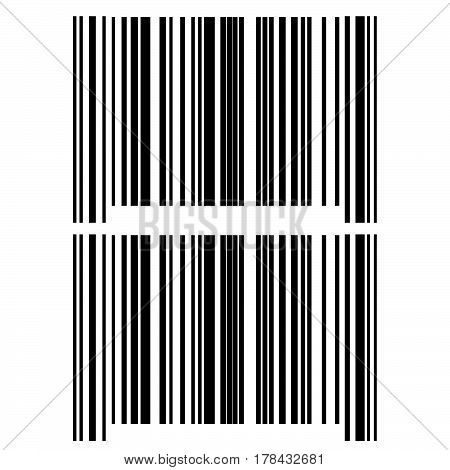 The Black Grey Bar Code Icon.