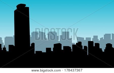 Illustration of building Mexico city collection stock