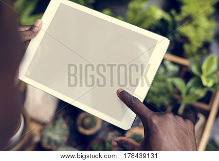 People Using Digital Device Concept