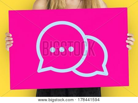 Chat Icon Word Young People