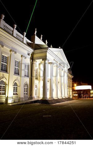 Nightly landmark Fridericianum in Kassel, Germany