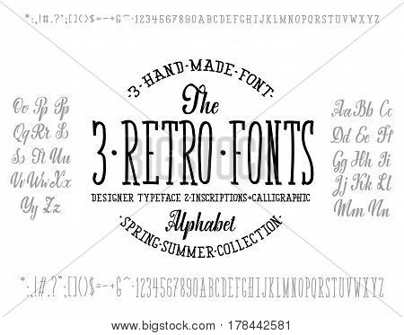 Font combination, for your design, handwritten and modular