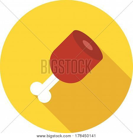 Cooked, ham, pork icon vector image. Can also be used for oktoberfest. Suitable for use on web apps, mobile apps and print media.