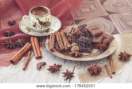 Turkish Coffee Chocolate And Spices Toned