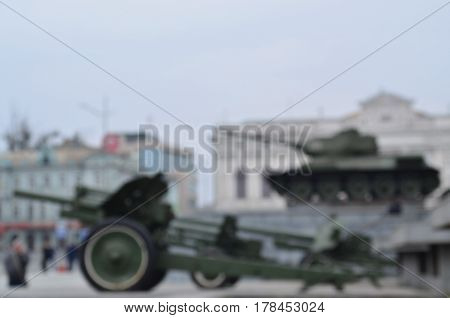 Blurred Image Of The Monuments Of The Great Patriotic War