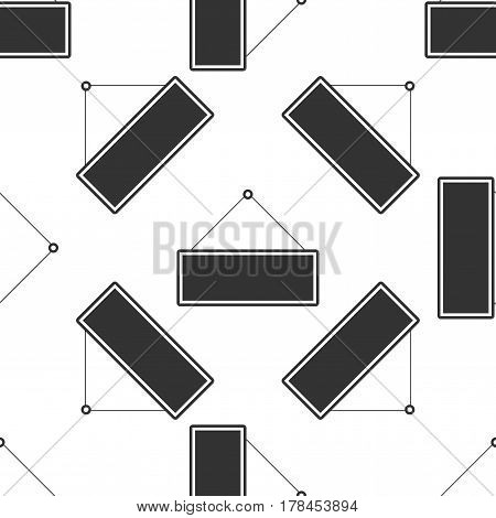 Signboard icon seamless pattern on white background. Vector Illustration