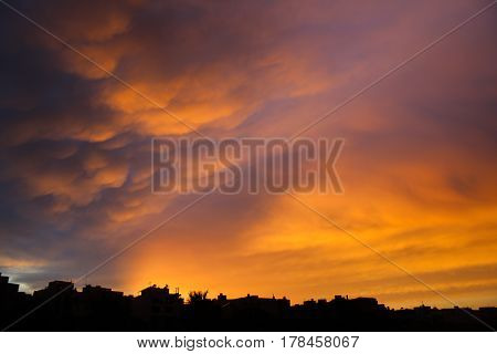 Calm after the storm - Spectacular clouds and sunset