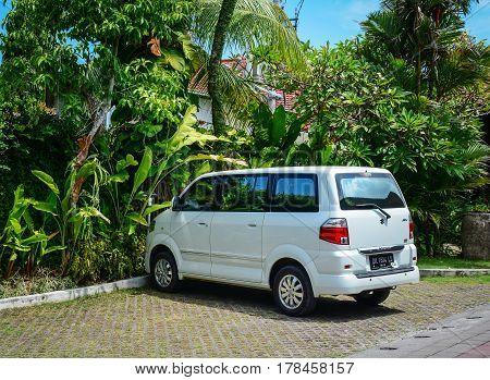 Car Parking At Luxury Resort In Bali, Indonesia