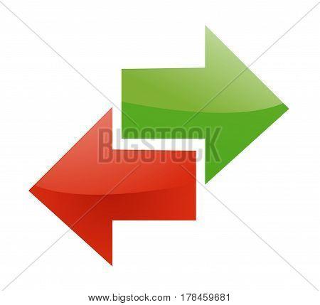Arrow sign illustration on white background art