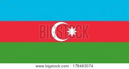 Colored Flag Of Azerbaijan