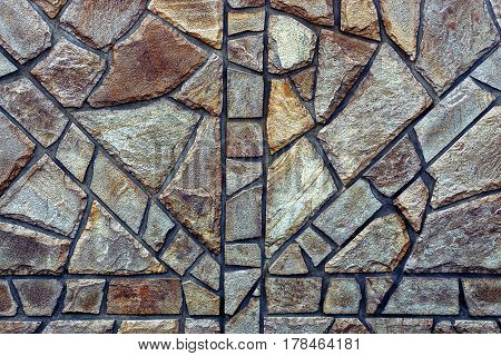 The texture of the stones, the foundation of the building