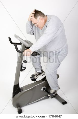 Big Guy Working Off The Fat