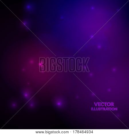 Space Background. Nebulas And Shining Stars. Vector Illustration