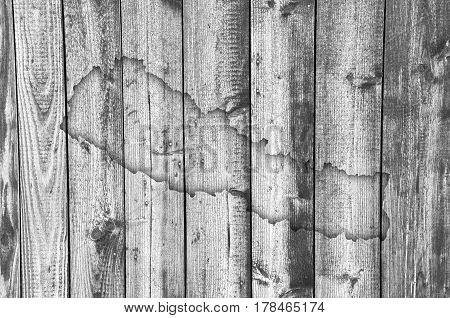 Map Of Nepal On Weathered Wood