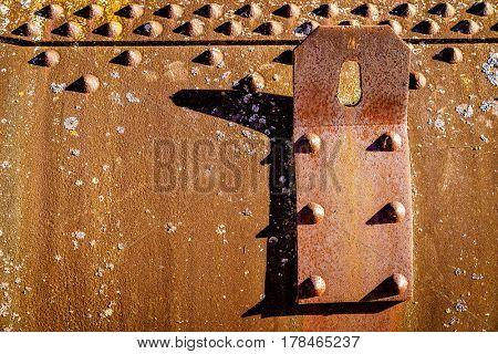 Old boiler wall with a lifting lug
