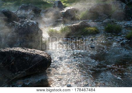 Hot spring in Jae Sawn National Park Lampang Thailand