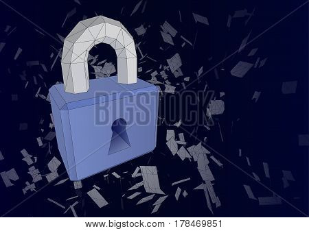 The Concept Of A Secure Internet Connection. Vector Illustration.