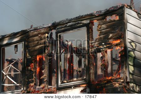 House Burned By Fire