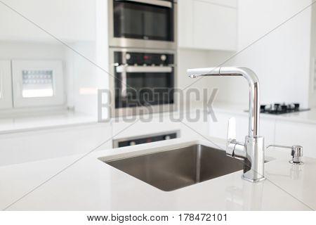 Modern interior kitchen details