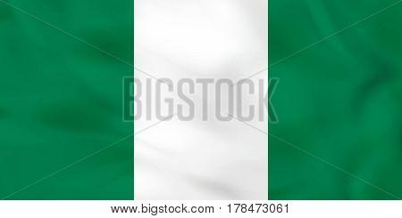 Nigeria Waving Flag. Nigeria National Flag Background Texture.