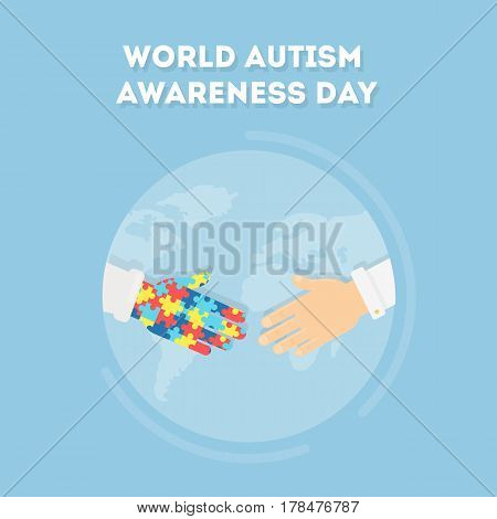 World Autism Awareness Day. Holiday or event for people with autism and other deseases.
