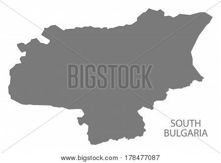 South Bulgaria Region Map Grey Illustration Silhouette