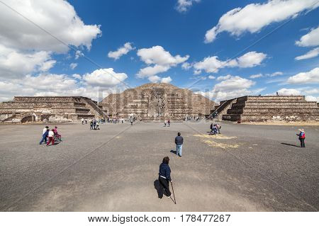 people go to the Pyramid of the Moon. Mexico