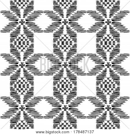 pattern with traditional model black on white