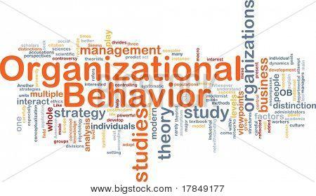 Background concept wordcloud illustration of organizational behavior