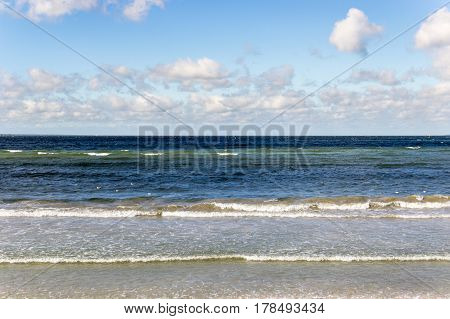 Sea, Waves, Lambs On The Waves, Clouds, Summer, Blue