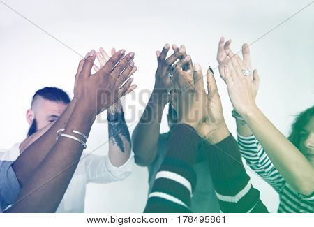People Hands Together Partnership Teamwork