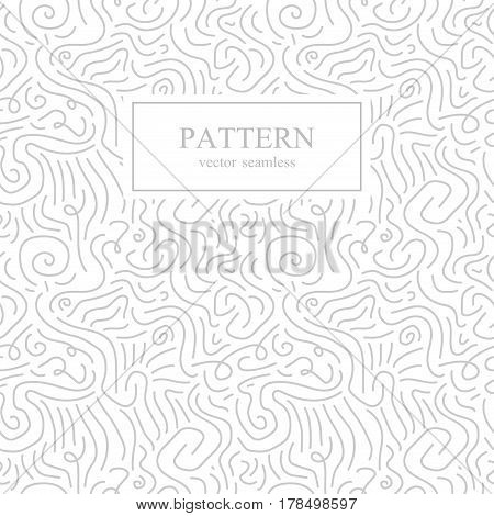 Curve seamless pattern in memphis style.Pop art, retro fashion 80-90s.White and gray background.