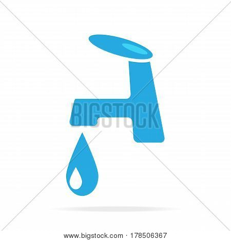 Faucet icon sign flat icon style vector illustration