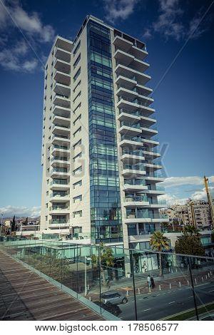 Limassol, Cyprus - DECEMBER 2016: Modern residential building