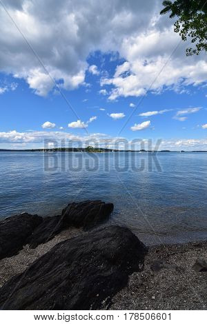 Gorgeous summer day on Casco Bay in Maine.