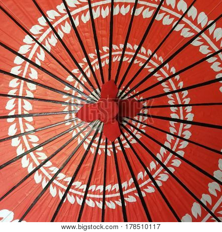 Japanese red parasol