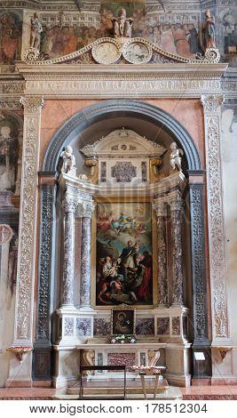 Interior Of Santa Anastasia Church In Verona, Italy
