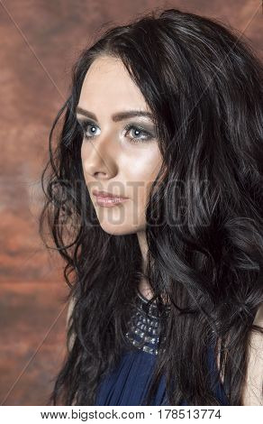 Portrait image of a beautiful young female. Taken with copy space.