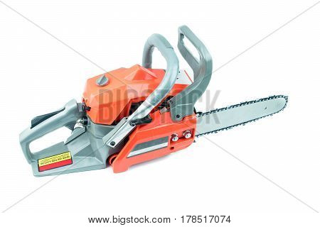 chainsaw on a  white background, work tool
