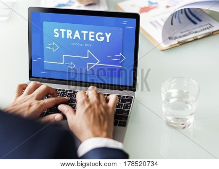 Business Development Management Strategy Illustration