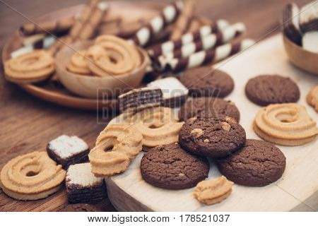 Yummy Cookie And Dessert Brown Chocolate