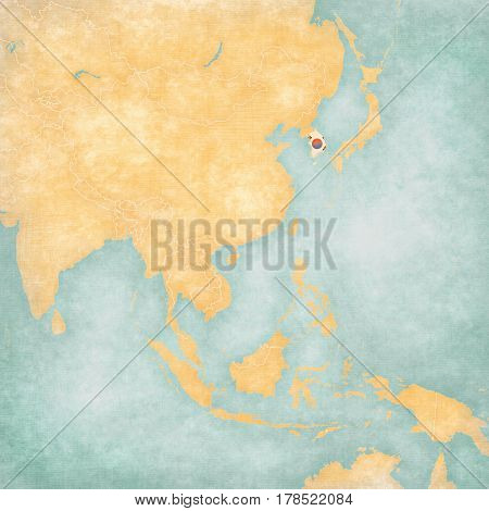Map Of East Asia - South Korea
