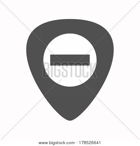 Isolated Guitar Plectrum With  A No Trespassing Signal