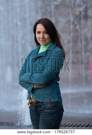 Portrait of a beautiful woman oriental appearance. People