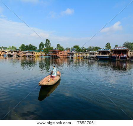 View Of Dal Lake In Srinagar, India