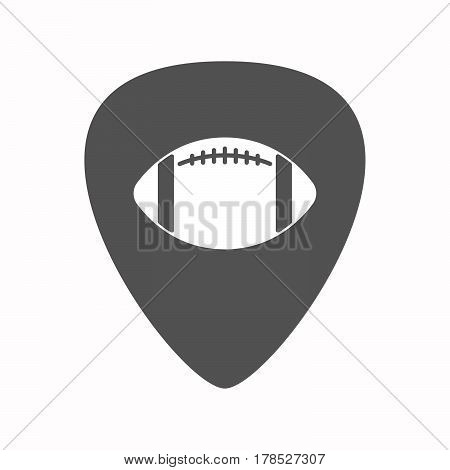 Isolated Guitar Plectrum With  An American Football Balloon