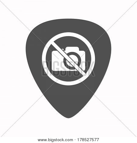 Isolated Guitar Plectrum With  A Photo Camera  In A Not Allowed Signal