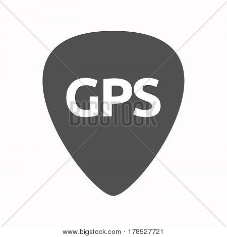 Isolated Guitar Plectrum With  The Global Positioning System Acronym Gps