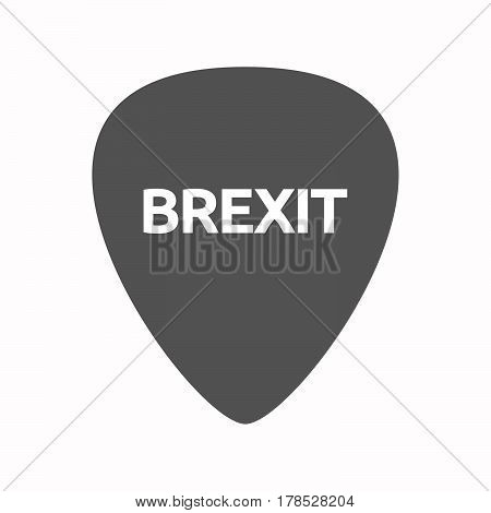 Isolated Guitar Plectrum With  The Text Brexit