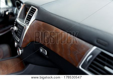 Luxury Car Interior Details.